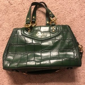 Coach NWT Green Crocodile Purse